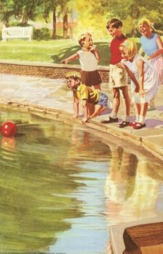 Ball in the water - Peter And Jane, Out in The Sun..