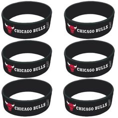 Chicago Bulls 6-Pack Cuffed Band Party Favors Set $12.95