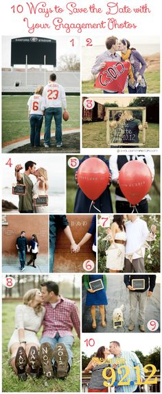 10 Ways to Save the Date with Your Engagement Photos