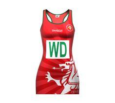 Team Wales 2014 netball dress by Samurai Sportswear. www.samurai-sports.com e7fb780c8