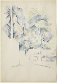Paul Cézanne (1839–1906), 'Path, Trees, and Walls' c. 1900, watercolour and traces of graphite on cream wove paper 46.7 x 31.4 cm©The Henry and Rose Pearlman Collection http://www.ft.com/cms/s/2/cd34c646-a877-11e3-b50f-00144feab7de.html#slide3