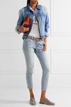 J Brand - Cropped Distressed Low-rise Skinny Jeans - Light denim - 29