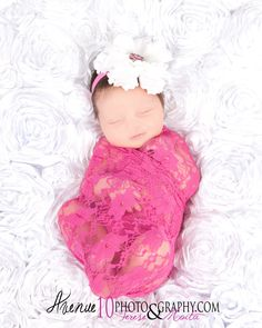 Fuchsia Pink Floral Lace Fabric Stretch Wrap - Newborn Baby Girls Cocoon Maternity Photography Prop Vintage - Ready to Ship. $10.00, via Etsy.