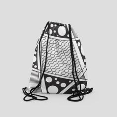 Abstract Wear is the only online store that provides abstract designs on shirts, Drawstring bags and phone cases, with a unique touch. Check out our creative collection and shop now! Drawstring Backpack, Gym Bag, Black White, Hiking, Bags, Backpacks, Abstract, Unique, Creative