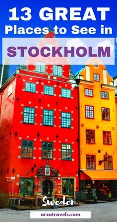 Stockholm is a beauty - find out which 13 places you need to see and visit in Stockholm, Sweden. Gamble Stan.
