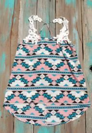 Southwest Cowgirl Top With Crochet Detail $19.99