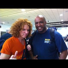 Everyman and Carrot Top at LAX.