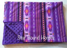 Purple Minky Blanket, Southwestern throw blanket, western Blanket, chenille, aztec Print blanket, Southern Blanket, Cowgirl Style Southwestern Throws, Southwestern Style, Cotton Throws, Minky Blanket, Cowgirl Style, Printed Cotton, Aztec, Throw Blankets, Purple