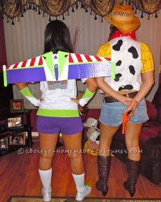 Female Buzz Lightyear and Woody Couple Costume ...This website is the Pinterest of costumes