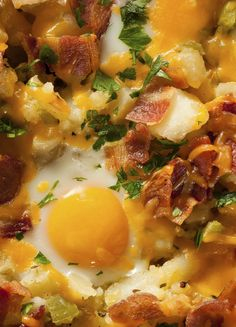 12 Crockpot Breakfast Recipes That'll Get You out of Bed -- this egg and hash brown casserole sounds SO good right now...