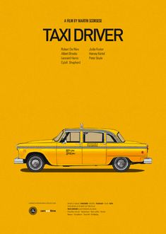 Taxi Driver - Cars and Films http://www.fubiz.net/2013/07/08/cars-and-film-series/