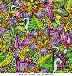 Beautiful decorative floral ornamental seamless pattern by balabolka, via Shutterstock