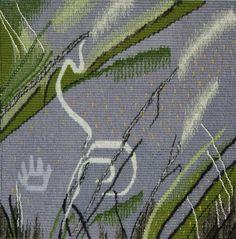 """Elizabeth Buckley, """"Petroglyph and Prairie"""" (2012), 8"""" x 8""""; $450"""