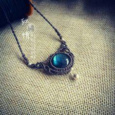 圆拉长石项链