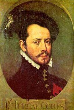 Dit is Hernando Cortes hij was een CONQUISTADORES hij kreeg toestemming om langs de kust van Mexico te gaan ontdekken welk land daar achter ligt eerste werd zijn toestemming ingetrokken maar in 1519 mocht hij eindelijk gaan hij leefde van 1484 tot 1547.