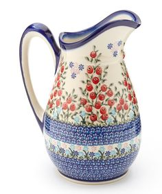 Take a look at this Red Poppies Olimp Pitcher by Lidia's Polish Pottery on #zulily today! $62.99 thru 9amET 9/30/13