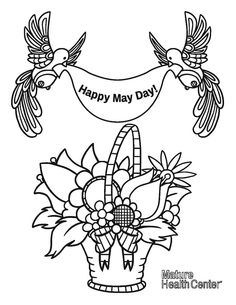 download our free coloring page share your finished artwork with mature health center on facebook