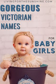 Are you looking for a vintage name for your baby girl? This list of old fashioned Victorian baby names for girls will hepl you find the perfect name for your little girl. #names #babynames #girlnames #vintagenames Vintage Baby Names, Modern Baby Names, Rare Baby Names, Unisex Baby Names, Unusual Baby Names, Baby Girl Names, Unique Baby, Baby Girls, Cool Boy Names