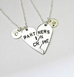 PARTNERS IN CRIME necklace initials friendship by RobertaValle