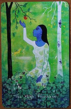La sacerdotisa, Chagallian Tarot