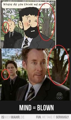 parallels between Tintin and Scrubs -> I never noticed this! Best Funny Pictures, Funny Photos, Funny Images, Mind Blown Meme, Scrubs Tv Shows, Dr Cox, Movies And Series, Funny Jokes, 9gag Funny