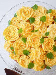 Vaniljkaka med citronmarängsmörkräm | Brinken bakar