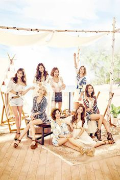 More of SNSD's hot and cool pictures for Casio Watches ~ Wonderful Generation