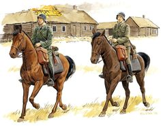 German Cavalry Scouts 1941 Russia
