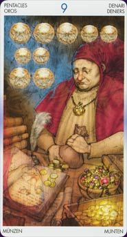 Tarot of Reflections-9 of Pentacles