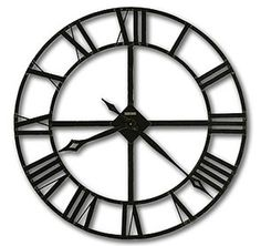 Featuring a solid 32 inch wrought-iron design, this Howard Miller wall clock will add a distinctive element to any room. - diameter wrought-iron wall clock has stamped Roman numerals, finished in