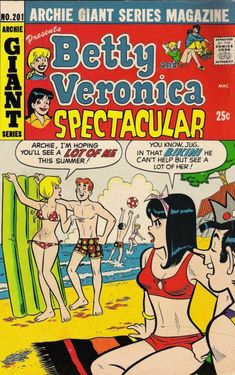 """Read """"B&V Friends Double Digest by Bill Golliher available from Rakuten Kobo. Archie surprises Veronica with a cement frog! Despite hating the sight of it, Veronica doesn't have the heart to simply . Archie Comics Characters, Archie Comic Books, Best Comic Books, Archie Comics Veronica, Archie Comics Riverdale, Dan Decarlo, Betty & Veronica, Josie And The Pussycats, Sad Movies"""
