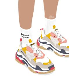 © Petite Bohème #illustration #drawing #sketch #minimal #fashion #fashionillustration #shoes #shoesaddict #ootd #ootdfashion #lookoftheday #sneaker #socks #teenager #teen #balenciaga #triples #balenciagasneakers #balenciagatriples