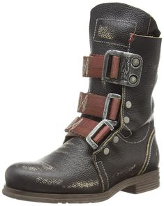 FLY London Women's Stif Ankle Boot,Black Kraft,36 EU/5 M US
