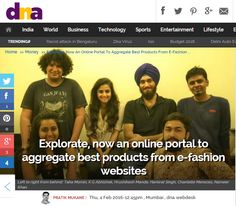 DNA features Explorate.in ecommerce shopping website