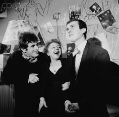 Edith Piaf Laughs with Theo Sarapo and Jean Leccia