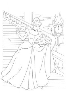 Dibujos para colorear - Disney Cinderella Coloring Pages, Barbie Coloring Pages, Disney Princess Coloring Pages, Disney Princess Colors, Coloring Pages For Girls, Disney Colors, Cool Coloring Pages, Cartoon Coloring Pages, Coloring Pages To Print