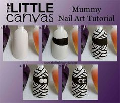 20 Easy Step By Step Halloween Nail Art Tutorials For Beginners 2015 - Pepino Nail Art Design Nail Art Designs 2016, Colorful Nail Designs, Halloween Nail Art, Fall Halloween, Nailart, Nail Tutorials, Cool Nail Art, Nails Inspiration, Cute Nails