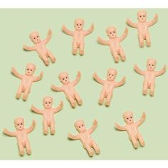 "Tiny Baby Favor Charms 12ct by AMSCAN. Save 4 Off!. $4.80. Tie to favor bags, place on a cake or sprinkle on your table for decoration! Each package includes 12 - 1"" precious plastic mini babies."
