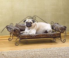 "Your pet will be ""king of the jungle"" when reclining in this royally appointed bed! .....Gabby would love this!!! :)"
