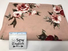 Blush ARIANA (right side loops) -Poly Rayon Spandex French Terry - By the yard - So Sew English Fabrics
