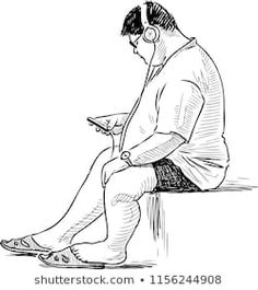 Sketch of a young man with his cell phone Human Figure Sketches, Human Sketch, Human Figure Drawing, Figure Sketching, Figure Drawing Reference, Guy Drawing, Life Drawing, Anatomy Reference, Pencil Art Drawings