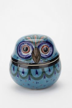 Mexican Owl Box... Bought this little guy for my dorm at Urban Outfitters the other day. So cute :)