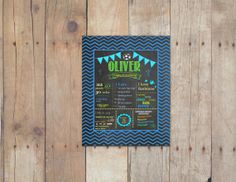 Birthday Chalkboard Sign / Printable & by PinknPurplePress on Etsy, $9.95 #1stBirthday @DIY #famliy