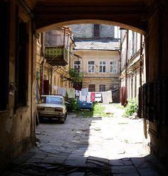 Odessa yard. #old #yard #Odessa #Ukraine #fisheye #architecture #city