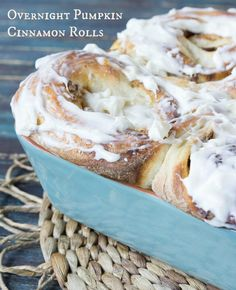 Overnight Cinnamon Rolls #breakfast #fall