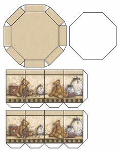 Miniature templates of hat boxes Printable Box, Printable Crafts, Minis, Barbie Box, Hat Boxes, Miniature Furniture, Diy Toys, Hobbies And Crafts, Dollhouse Miniatures