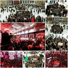 Procession in Imam Hussein Holy Shrine   #7thMuharram1437