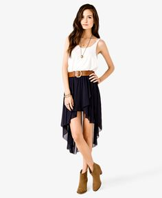 High-Low Tulip Skirt | FOREVER 21 - 2027536747 this outfit with the boots from work...omg cute