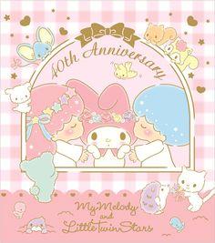 #MyMelody #LittleTwinStars 40th anniversary ☆*:.。. o(≧▽≦)o .。.:*☆