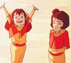 Ikki and Jinora. Jinora's face explains exactly how I and probably the rest of the fandom too felt when Ikki ruined the chance of finding out what happened to Zuko's mother.